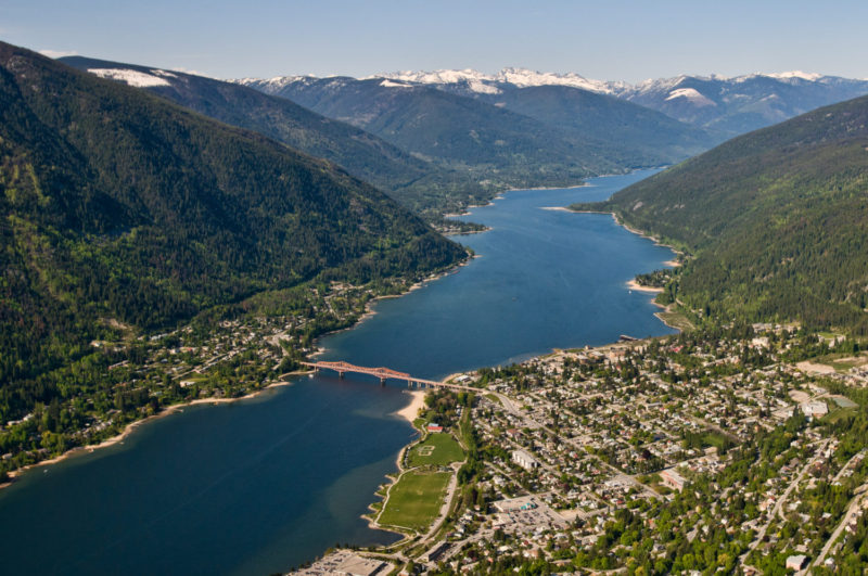 Nelson BC aerial photo