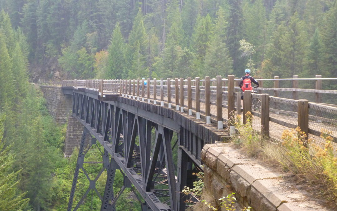 Columbia & Western Rail Trail above Arrow Lakes
